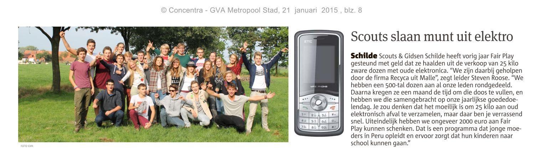Artikel GVA - Scouts slaan munt uit elektro